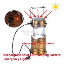Emergency Light /Rechargeable LED Bright Solar Camping Lantern