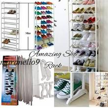 NEW: Amazing 10 Tiers Shoe Rack.Stores 30 pairs of Shoes, Sandals, etc