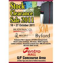 18th - 27th October 2011. Stock Clearance Sale 2011