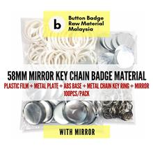 KEYCHAIN MIRROR 58 mm Button Badge Raw Material (100pcs/pack)