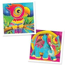 Batik Painting 2-in-1 Box Kit - Parrot and Elephant