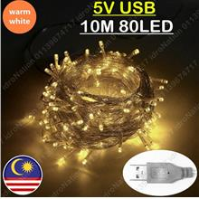【USB】80LED 10M Small LED Battery AA String Fairy Light C..