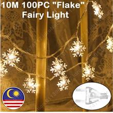 Flake 100LED 10M LED String Fairy Light Christmas Party Wedding Decora