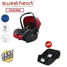 Sweet Heart Paris CS323WB Baby Car Seat (Red Black) with Base
