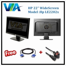 Refurb HP 22' LED Widescreen Monitor, 22 inch 16:10 1680 x 1050 at 60 Hz