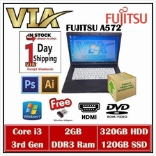 Refurbished Laptop Fujitsu A572/E Core i5~4GB~250GB~Win7 Pro~