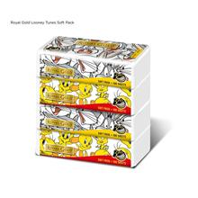 Royal Gold Looney Tunes Soft Pack 100 Sheets x 4pkts )