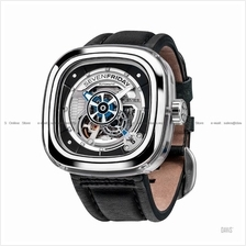SEVENFRIDAY S1/01 Essence Automatic Multi Layer NFC Leather Black