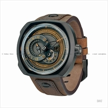 SEVENFRIDAY Q2/03 Choo-Choo Automatic Multi Layer NFC Leather Brown