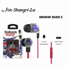 70f2de2f2f8 Skullcandy Smokin Buds 2 Earbud In-Ear Headphones with Mic (Spaced Out  Clear)