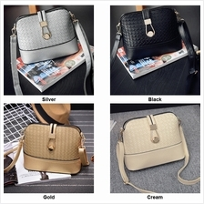 Round Buckle Lock Knitted Handbag BG052