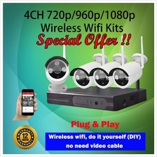 4CH 720p/960p/1080p Wireless Wifi CCTV IP Camera Kits -SPECIAL OFFER!!