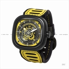 SEVENFRIDAY P3B/03 Automatic Racing Team Yellow NFC Leather Silicone