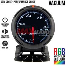 JDM Vacuum 2.5' RGB Multi-color LED Smoke Lens Racing Gauge Meter