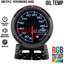 JDM Oil Temperature 2.5' RGB Multi-color LED Racing Performance Meter