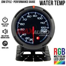 JDM Water Temperature 2.5' RGB Multicolor LED Smoke Racing Gauge Meter