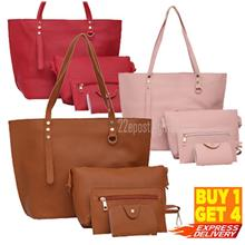 Korean Design Soft PU 4in1 Set Shoulder Bag -New Arrival (6 color)