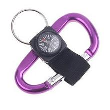 Aluminum Rock Climbing Carabiner Locking Clip Hook with Compass (2pcs)