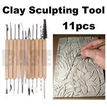 11pcs Wooden Clay Sculpting Sculpt Pottery Carving Carved Tool Tools