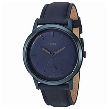 FS5448 Minimalist Two Hand Quartz Blue Leather Strap Men's Watch