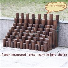 Wooden Flower Round Wood Fence, Barrier, DIY Garden Decoration Shed