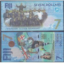 Fiji 2017 Rugby 7s Olympic Gold Seven 7 Dollars UNC
