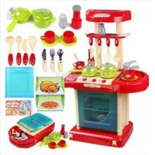 Kitchen Toy Play Set Playset Educational Toys with Light & Music