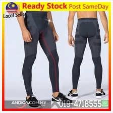 Men Sport Compression Long Pant Under Tight Fitness GYM Seluar Sukan