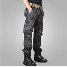 Mens Casual Camouflage Hunting Multi-PocketsPants