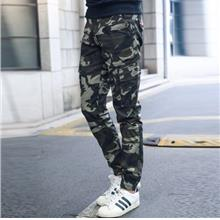 Men's Causal Camouflage Cargo Multi-Pockets Pants