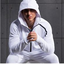 Men's Gym Zip Up Quick Dry Hooded Jacket