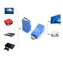 HDMI Extender Transmitter TX/RX Adapter 30M RJ45 Ethernet LAN without