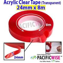 Double Sided Acrylic Clear Tape (Transparent) (24mm x 8m)