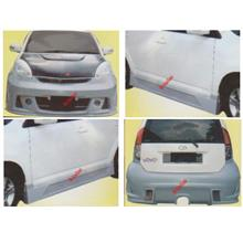 Perodua MYVI R3 [Front + Rear Bumper + Side Skirt] Body Kit [FIBER]