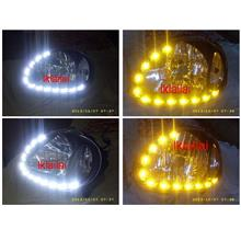 DEPO Perodua Kelisa Crystal Chrome Head Lamp 2-Function LED DRL R8