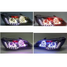 Honda Civic FD '06 PROJECTOR HEAD LAMP Colour CCFL+ Angel Eye