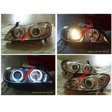 NISSAN CEFIRO A33 '00-03 BLACK/CLEAR LED Projector Head Lamp