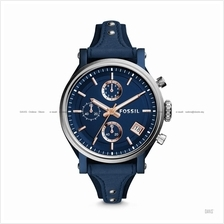 FOSSIL ES4113 Women's Original Boyfriend Chronograph Leather Blue