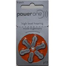 P13 PowerOne Zinc Air Hearing Aid Battery 1.45V - Pack of 6