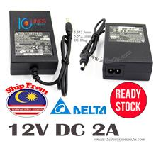 Delta AC to 12V DC 24W 2A Power supply adapter Switching PSU LCD CCTV Monitor
