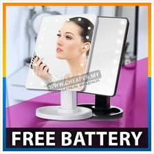 Touch Screen 16 LEDs Makeup Cosmetic Mirror Adjustable Vanity Counter