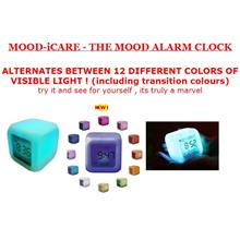 Multi Colour Change Digital Mood Alarm Clock ,Temp Display, Xtra BIG!!