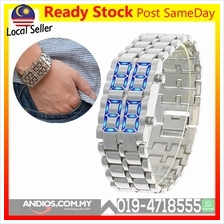 Iron Samurai LED Digital Watch Watches Light Jam Tali Lampu