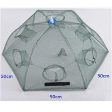 New 6-Entrance Prawn Catch Shrimp Trap Crab Fishing Net (L)