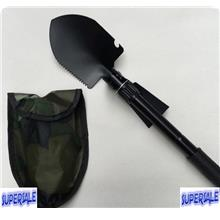 Multi Purpose Foldable Shovel Hoe Army Utility Hiking Camping