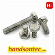 M10x45 Stainless Steel Hex Bolts- A2 Metric Threads/ 2-pcs