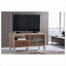 4 Feet Solid Sliding Door TV Cabinet Wood