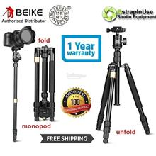 Beike Q668S Professional Compact Travelling Tripod with Monopod