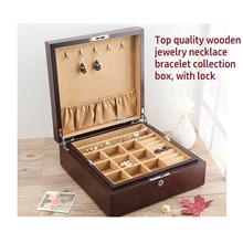 Top Quality Ash Wood Jewelry Storage Boxes, Jewellery Box with lock