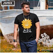JSMIX Men's Plus Size (XL~7XL) ?Sunflower? Black T Shirt 82JT0846